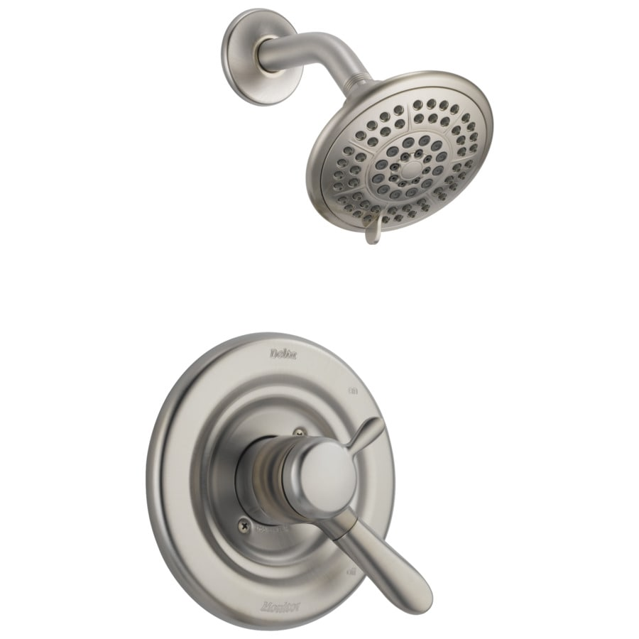 Shop Delta Lahara Stainless 1 Handle Shower Faucet At