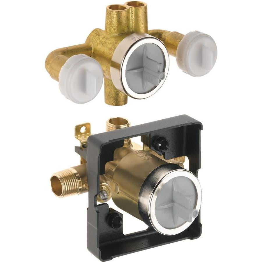Delta 1/2-in Brass Male In-Line Rough-in Valve Intregal Stops