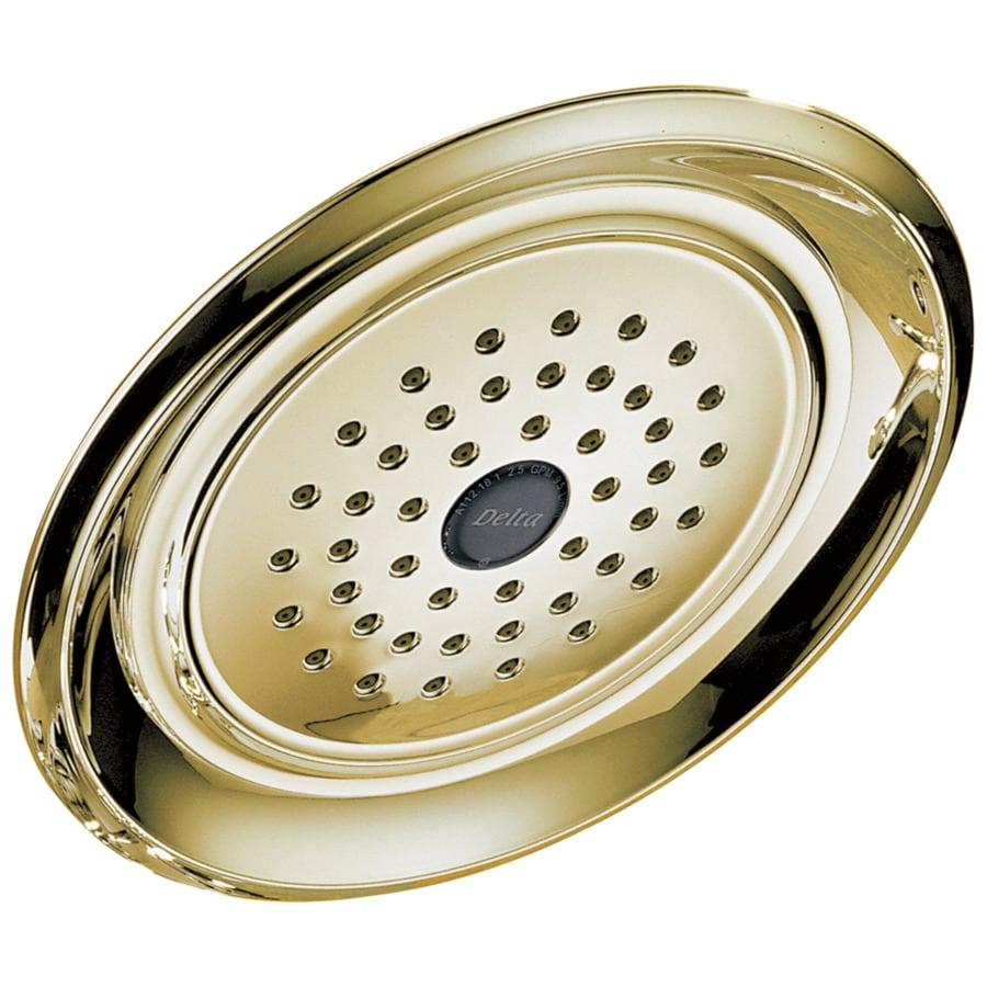 Delta Innovations 3.25-in 2.5-GPM (9.5-LPM) Polished Brass 1-Spray Rain Showerhead