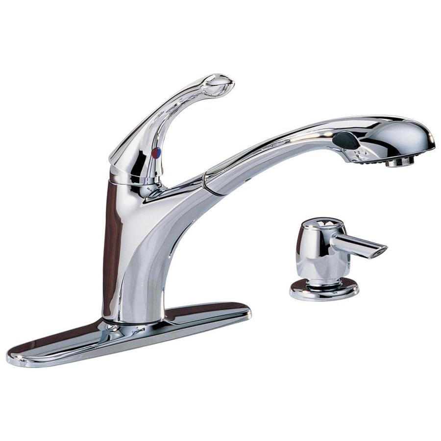 Delta Chrome Kitchen Faucets Shop Delta Debonair Chrome 1 Handle Pull Out Kitchen Faucet At