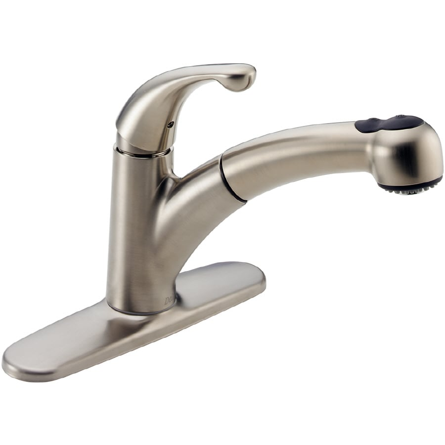 Delta Palo Stainless 1-Handle Pull-Out Kitchen Faucet