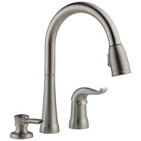Delta Kate 1 Handle Deck Mount Pull Down Kitchen Faucet