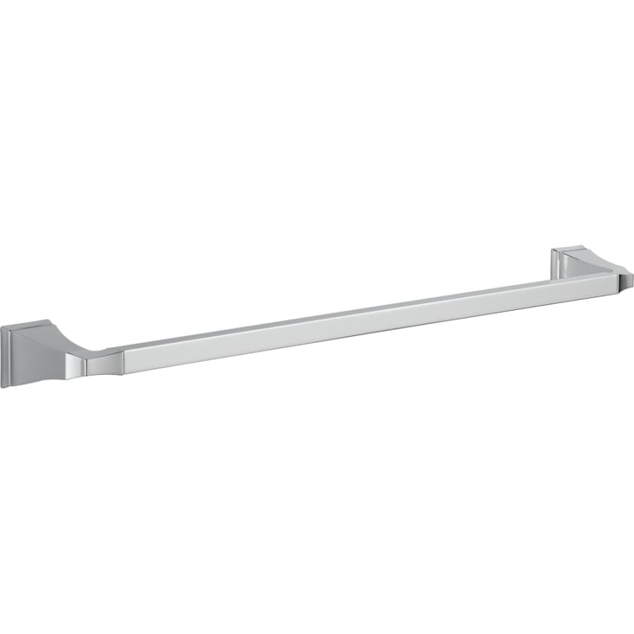 Shop Delta Dryden Chrome Single Towel Bar Common 24 In