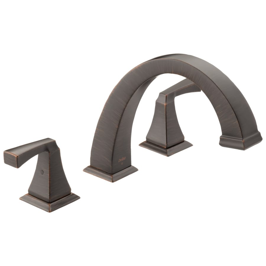 Delta Dryden Venetian Bronze 2-Handle-Handle Adjustable Deck Mount Bathtub Faucet