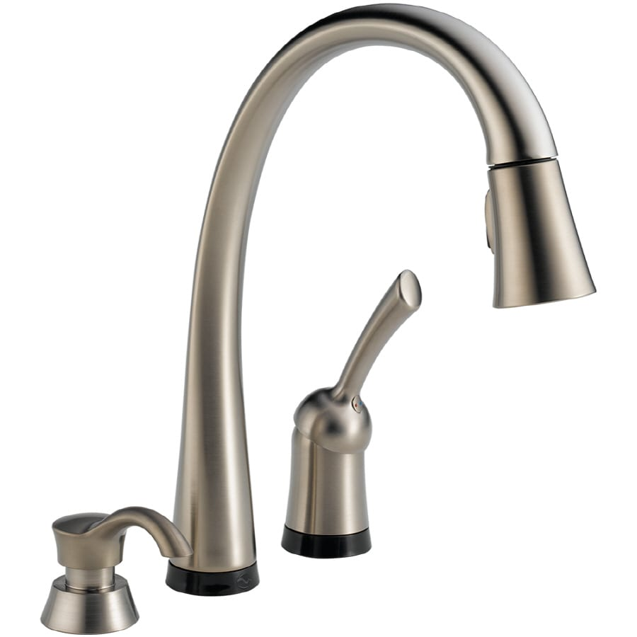 Lowes Kitchen Faucets Delta Shop Delta Pilar Touch2o Stainless 1 Handle Pull Down Touch