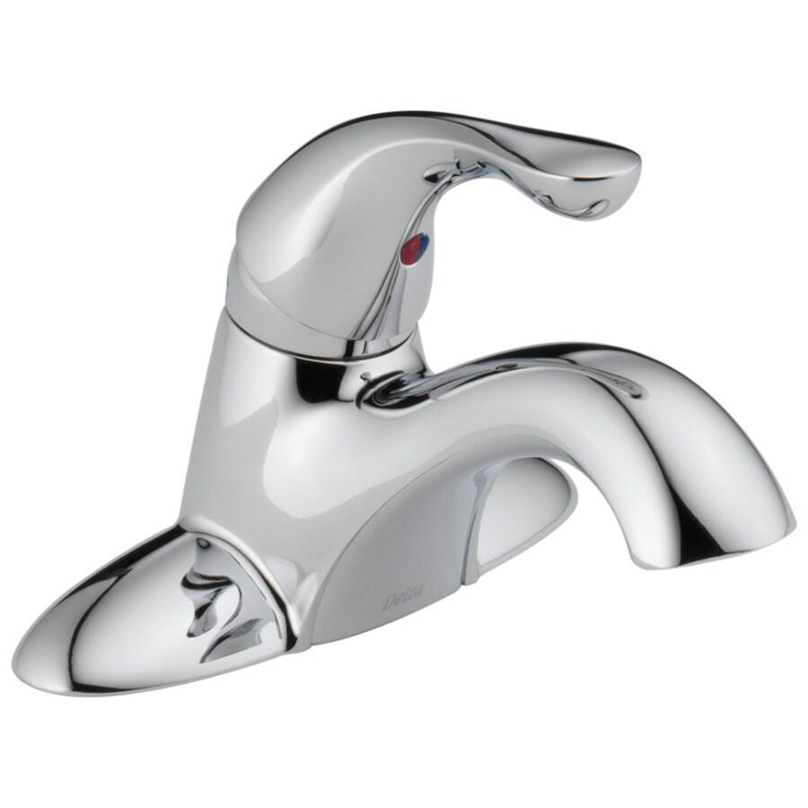 Delta Classic Chrome 1-handle 4-in Centerset Bathroom Sink Faucet