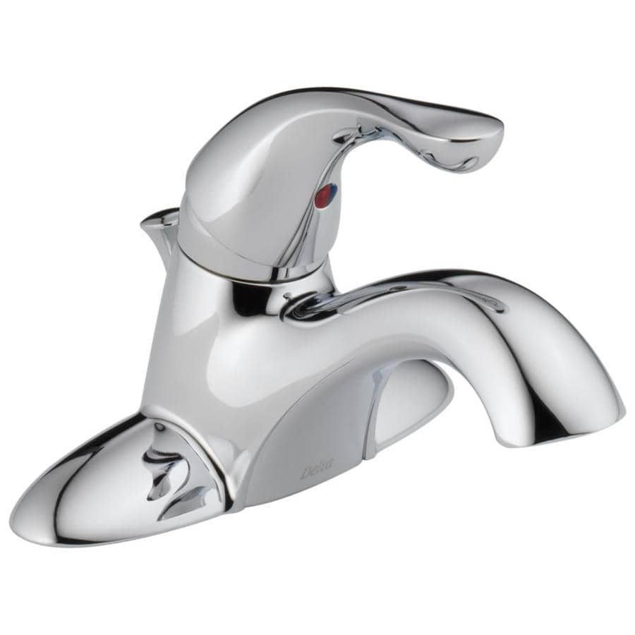 Delta Classic Chrome 1-handle 4-in Centerset Bathroom Sink Faucet