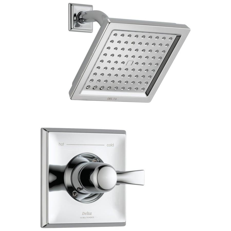 Wonderful Delta Dryden Chrome 1 Handle Shower Faucet Trim Kit With Rain Showerhead