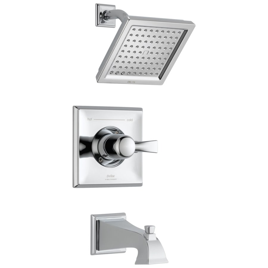Shop Delta Dryden Chrome 1-Handle Bathtub and Shower Faucet at ...