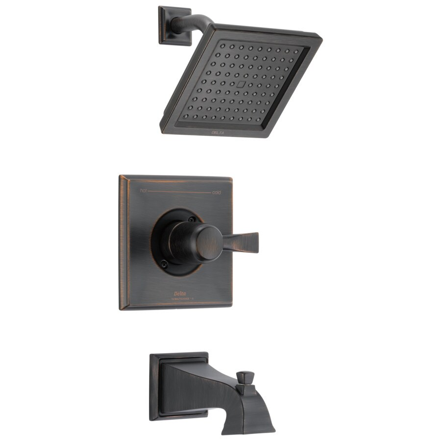 delta dryden venetian bronze 1 handle bathtub and shower faucet trim