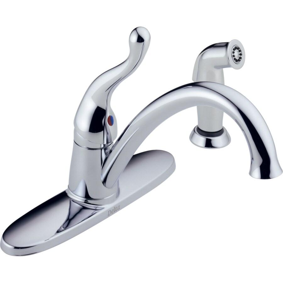 Delta Talbott Chrome 1 Handle Low Arc Kitchen Faucet With