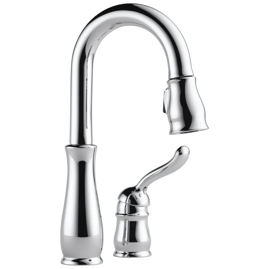 Delta Leland Chrome 1-handle Deck Mount Pull-down Bar And Prep Faucet