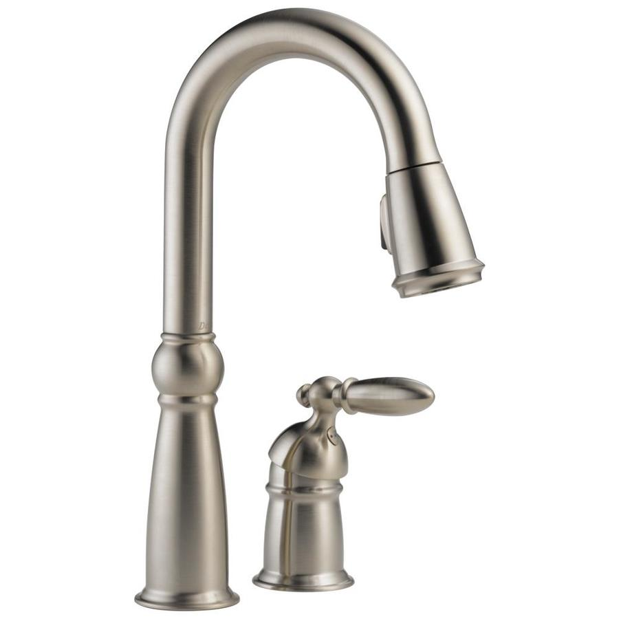 Delta Victorian Stainless 1-Handle Bar and Prep Faucet