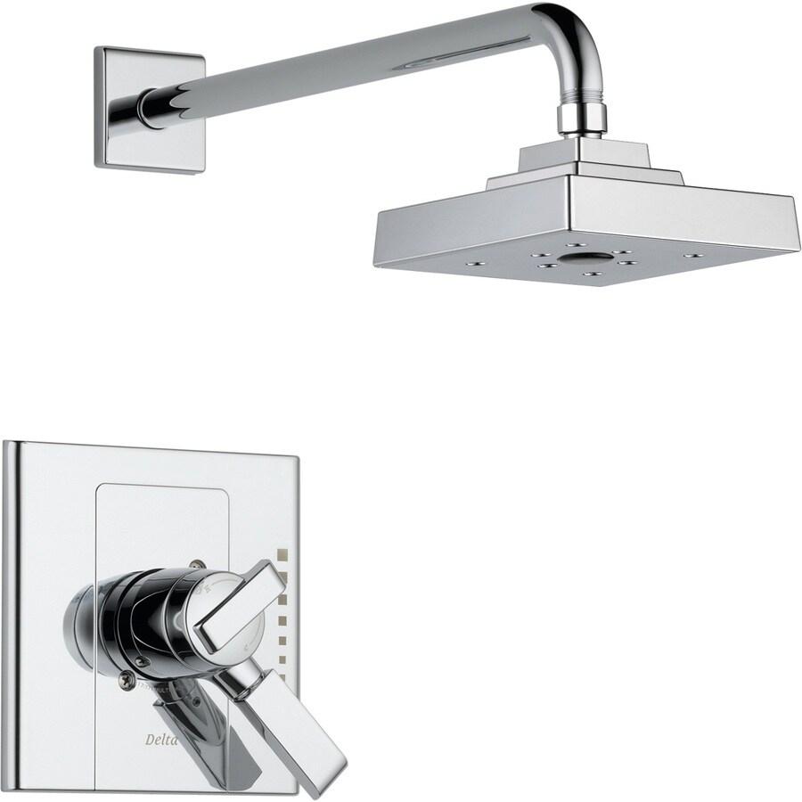 Delta Arzo Chrome 1-Handle WaterSense Shower Faucet Trim Kit with Rain Showerhead