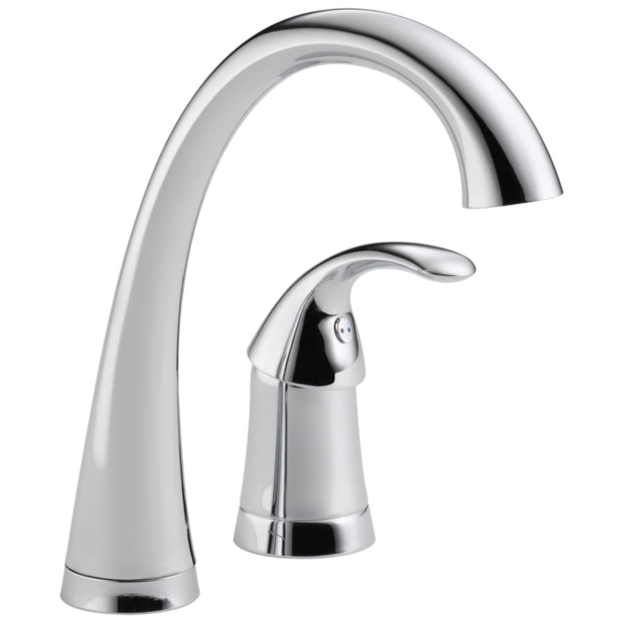 Delta Pilar Waterfall Chrome 1-Handle Bar and Prep Faucet