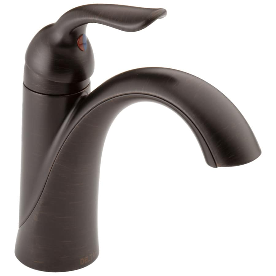 Shop Delta Lahara Venetian Bronze 1 Handle Single Hole 4 In Centerset Watersense Bathroom Faucet