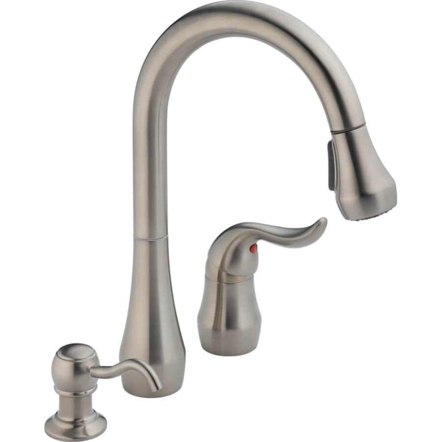 Shop Peerless Stainless Handle Pulldown Deck Mount Kitchen Faucet - Lowes kitchen faucets on sale