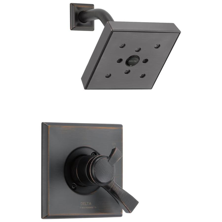 Delta Dryden Venetian Bronze 1-Handle WaterSense Shower Faucet Trim Kit with Rain Showerhead