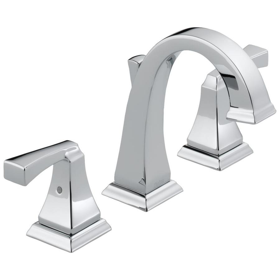 Delta Dryden Chrome 2-Handle Widespread WaterSense Bathroom Faucet (Drain Included)