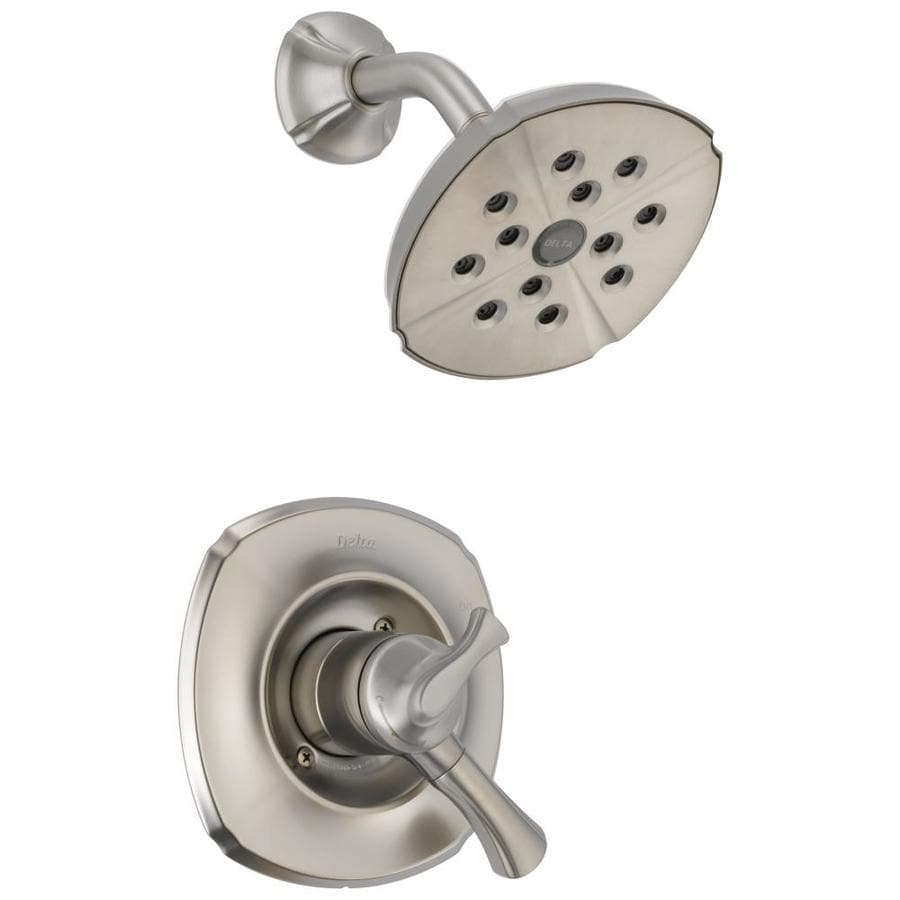 Delta Addison Stainless 1-Handle WaterSense Shower Faucet Trim Kit with Single Function Showerhead