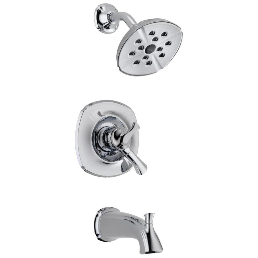 Delta Addison Chrome 1-Handle WaterSense Bathtub and Shower Faucet Trim Kit with Single Function Showerhead