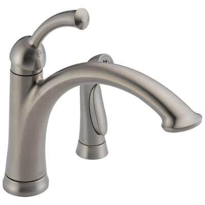 Lewiston Stainless 1-handle Deck Mount High-arc Kitchen Faucet