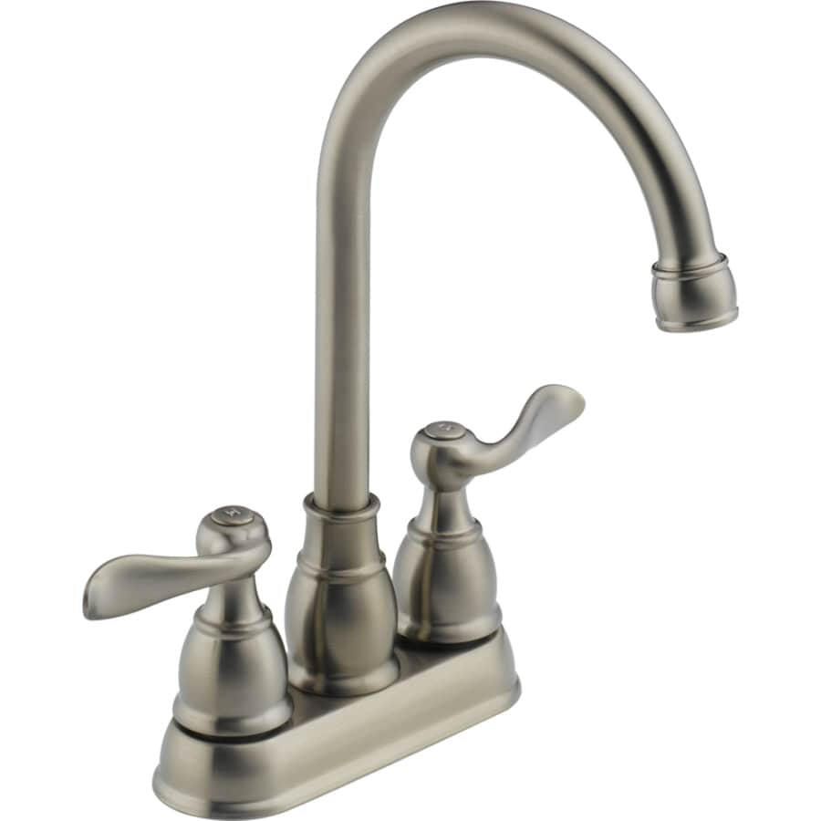 lowes delta kitchen faucets shop delta windemere stainless 2 handle kitchen faucet at 20456