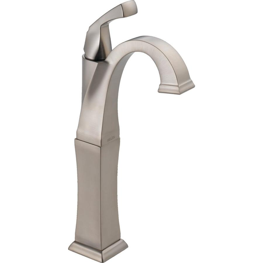 Delta Dryden Stainless 1-Handle Single Hole WaterSense Bathroom Faucet