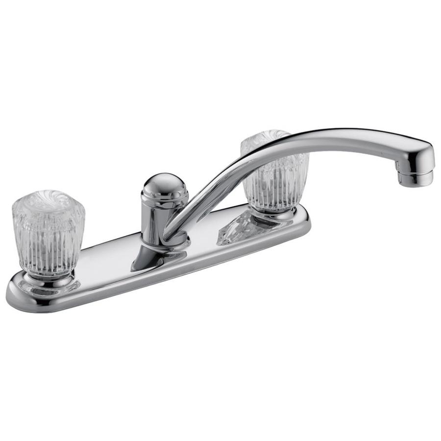 shop delta classic chrome 2 handle low arc deck mount simply conserve 174 high efficiency tri max 3 flow rate