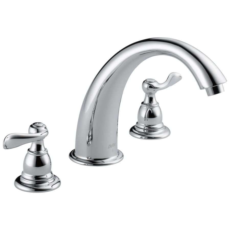 Delta Windemere Chrome 2-handle Adjustable Deck Mount Bathtub Faucet