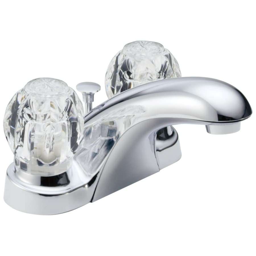 Delta Foundations Chrome 2-Handle 4-in Centerset WaterSense Bathroom Faucet (Drain Included)