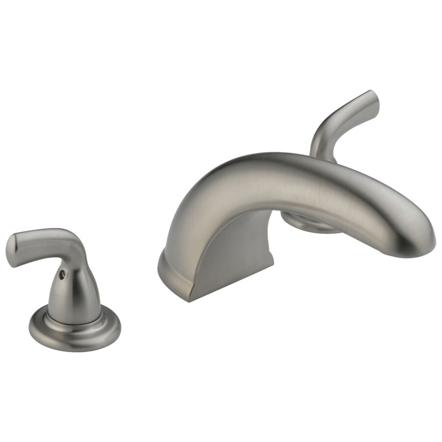 Delta Classic Stainless 2-Handle Adjustable Deck Mount Bathtub Faucet