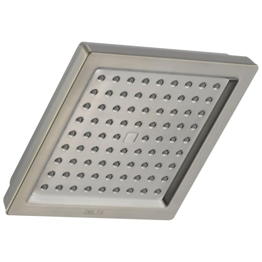 Delta Dryden 6.5-in 2.5-GPM (9.5-LPM) Stainless Rain Showerhead