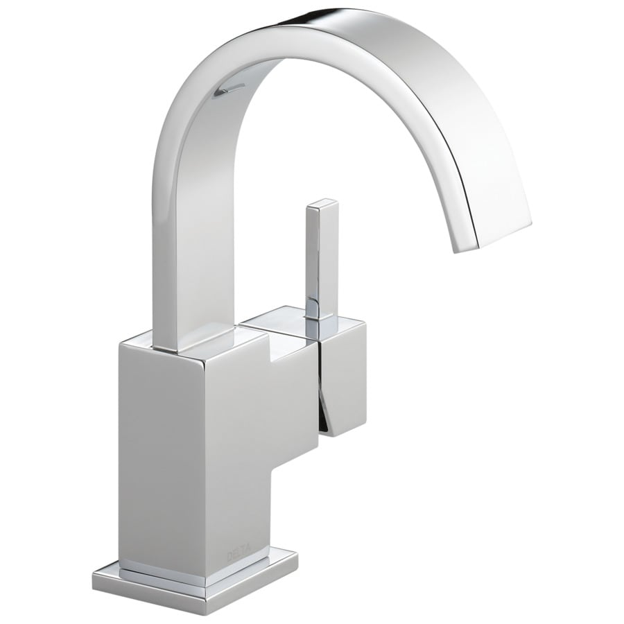 Delta Vero Chrome 1-Handle Single Hole/4-in Centerset WaterSense Bathroom Faucet (Drain Included)