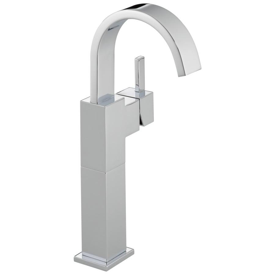 Delta Vero Chrome 1-Handle Single Hole Bathroom Sink Faucet