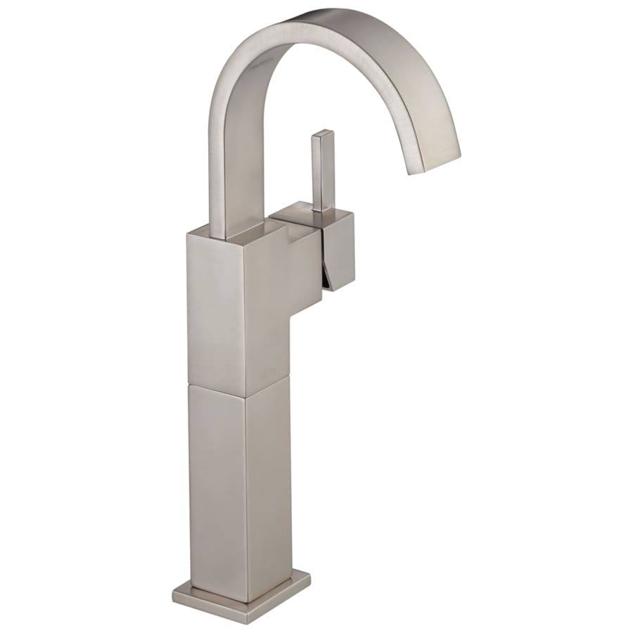 Shop Delta Vero Stainless 1 Handle Single Hole Watersense Bathroom Faucet At