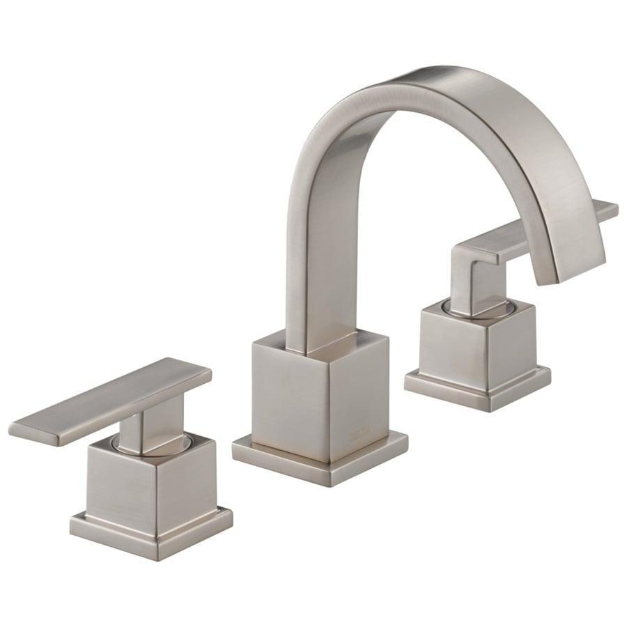 Shop Delta Vero Stainless 2-Handle Widespread Bathroom Sink Faucet ...