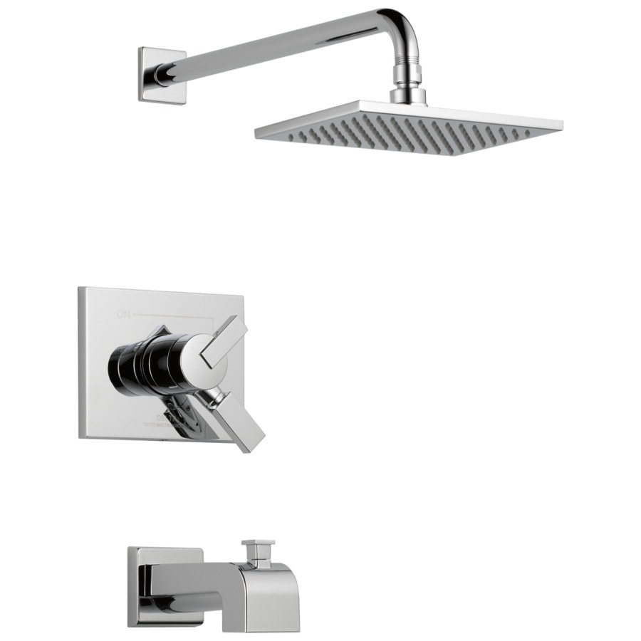 Shop Delta Vero Chrome 1 Handle Bathtub And Shower Faucet