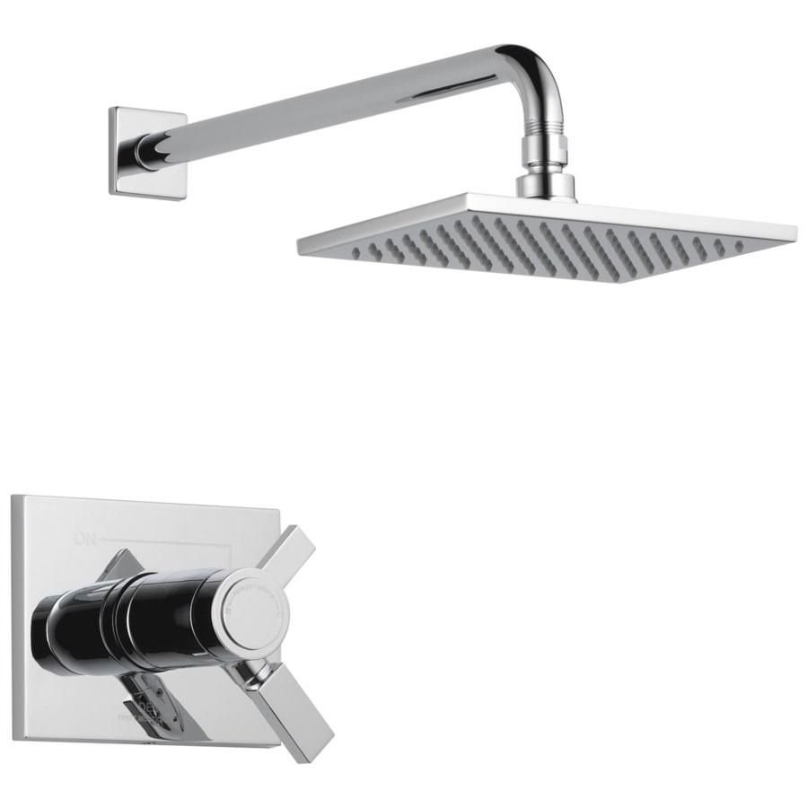Delta Vero Thermostatic Chrome 1-Handle Shower Faucet Trim Kit with Rain Showerhead