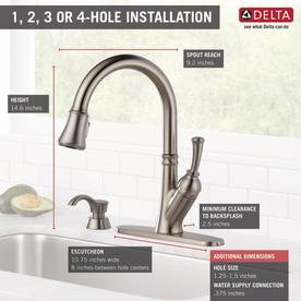 Delta Savile Stainless 1-Handle Deck Mount Pull-down