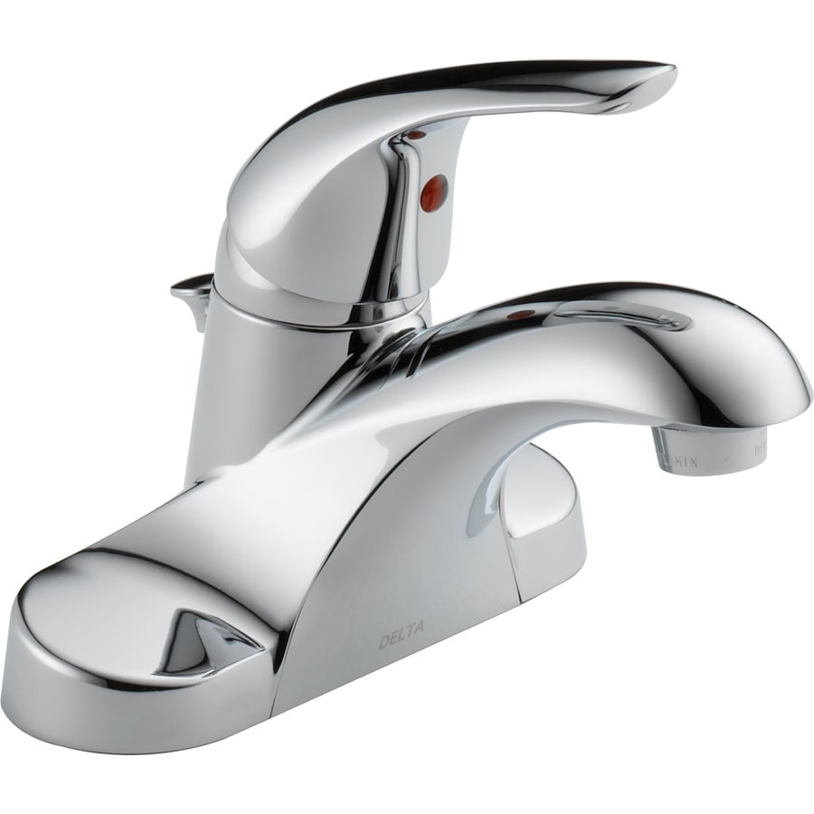 Shop Delta Chrome 1-Handle 4-in Centerset WaterSense Bathroom Faucet ...