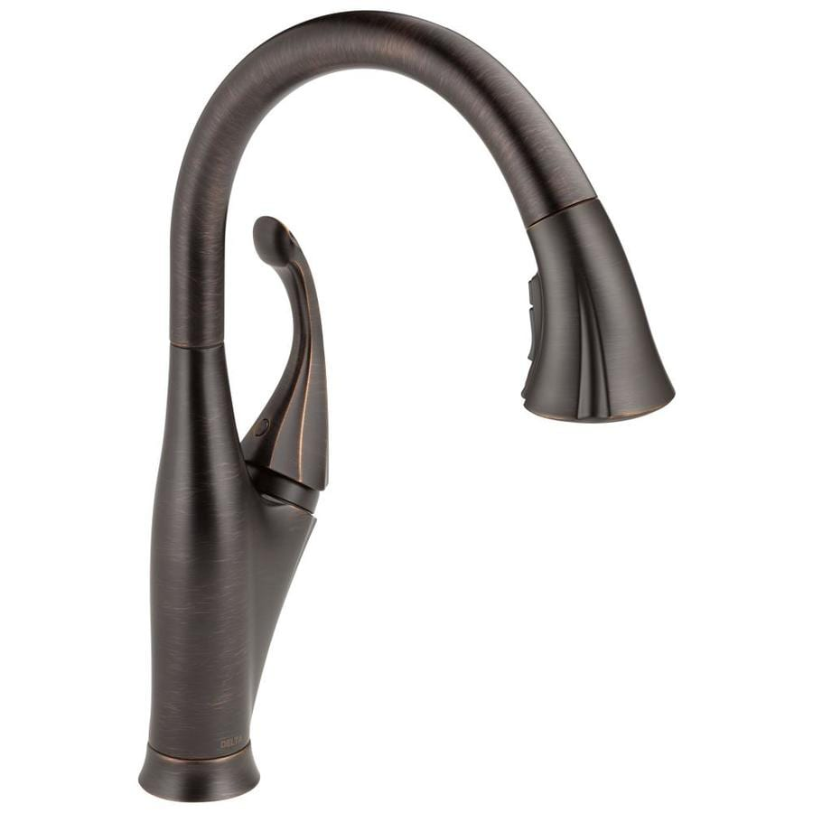 Shop Delta Addison Venetian Bronze 1-Handle Deck Mount Pull-Down ...