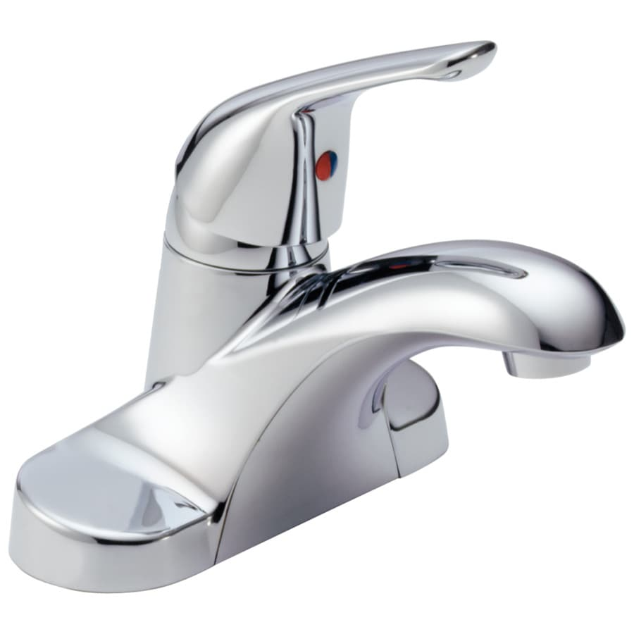 chrome 1 handle 4 in centerset watersense bathroom faucet at