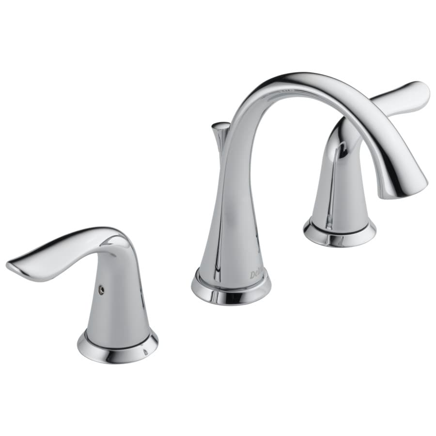 shop delta lahara chrome 2 handle widespread watersense bathroom faucet drain included at ForDelta Widespread Bathroom Faucet