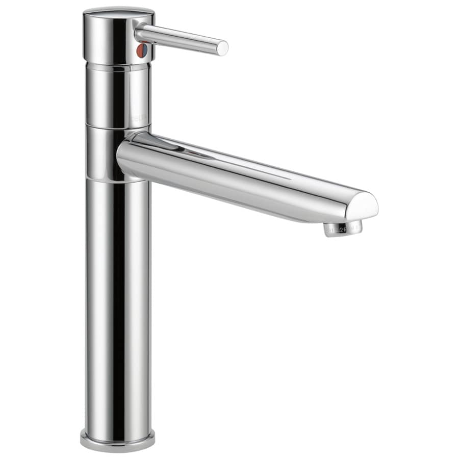 shop delta trinsic chrome 1 handle high arc kitchen faucet
