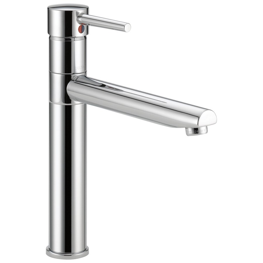 Delta Trinsic Chrome 1-handle Deck Mount High-Arc Kitchen Faucet