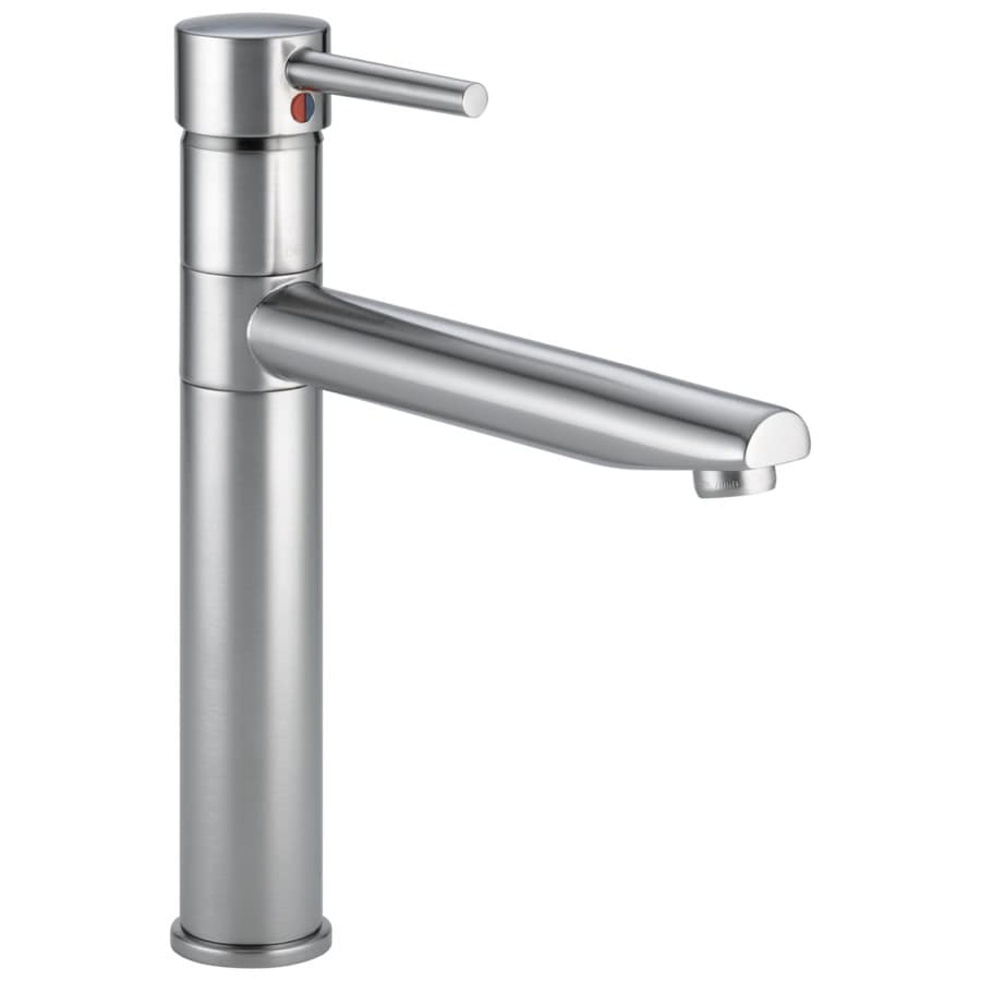 Delta Trinsic Arctic Stainless 1-handle Deck Mount High-Arc Kitchen Faucet