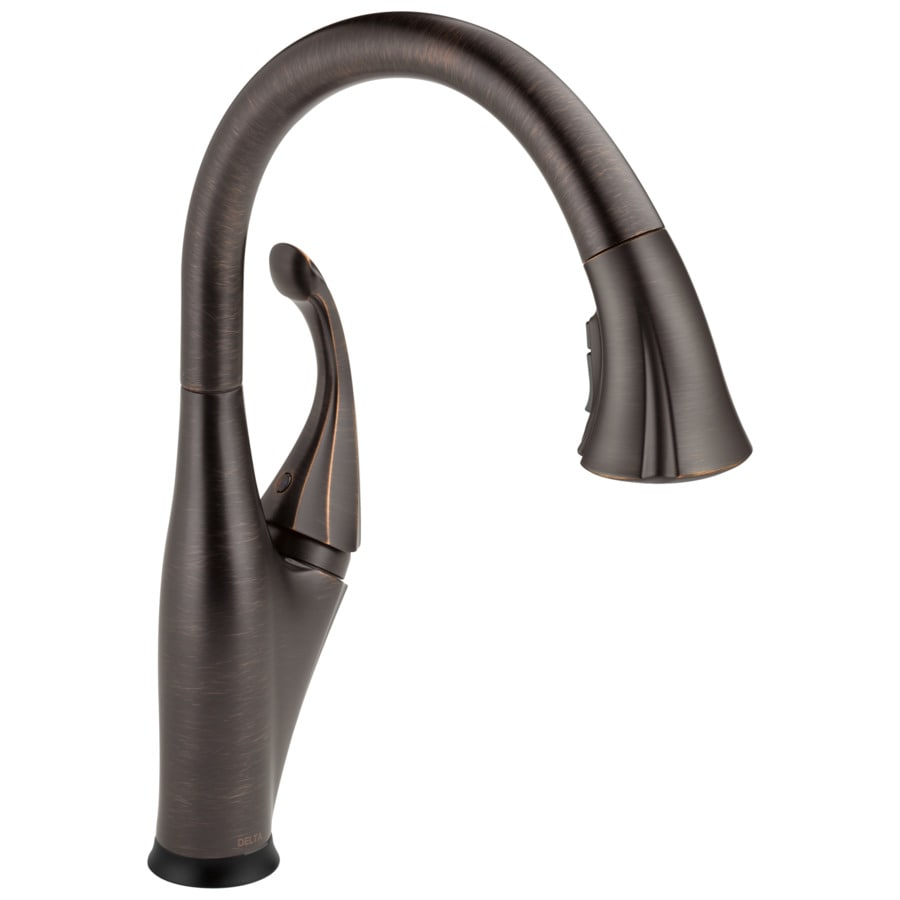 Delta Addison Touch2O Venetian Bronze 1-Handle Pull-Down Sink/Counter Mount Touch Kitchen Faucet