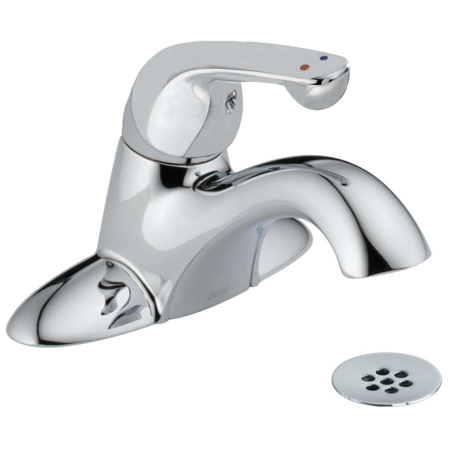 Delta Chrome 1-Handle 4-in Centerset Commercial Bathroom Faucet