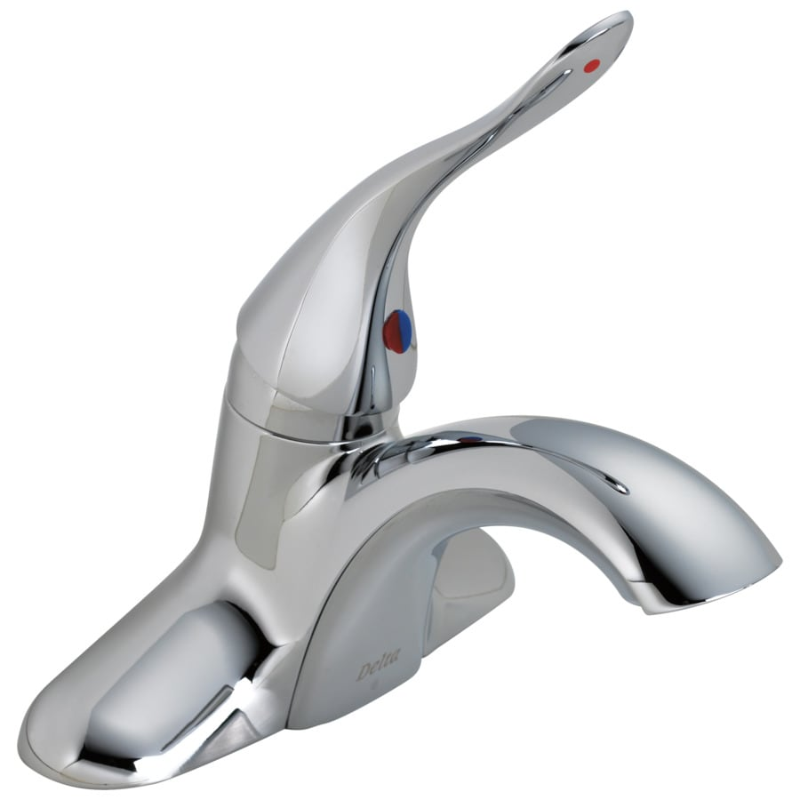 Delta Commercial Chrome 1-Handle 4-in Centerset Commercial Bathroom Sink Faucet